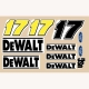 Slot Car Decal 1:24 De Walt