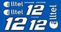 Slot Car Decal 1:24 Elltel